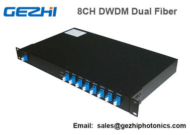 100Ghz DWDM 8 Channel Multiplexer and Demultiplexer in unit dual fiber